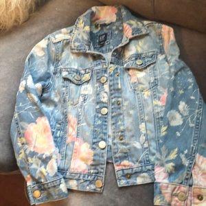 Gap floral denim jacket